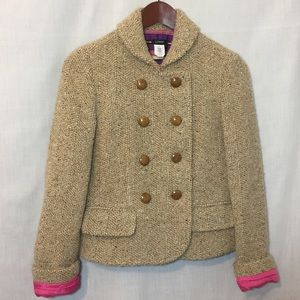 J. Crew Double Breasted Cropped Boucle Peacoat 6